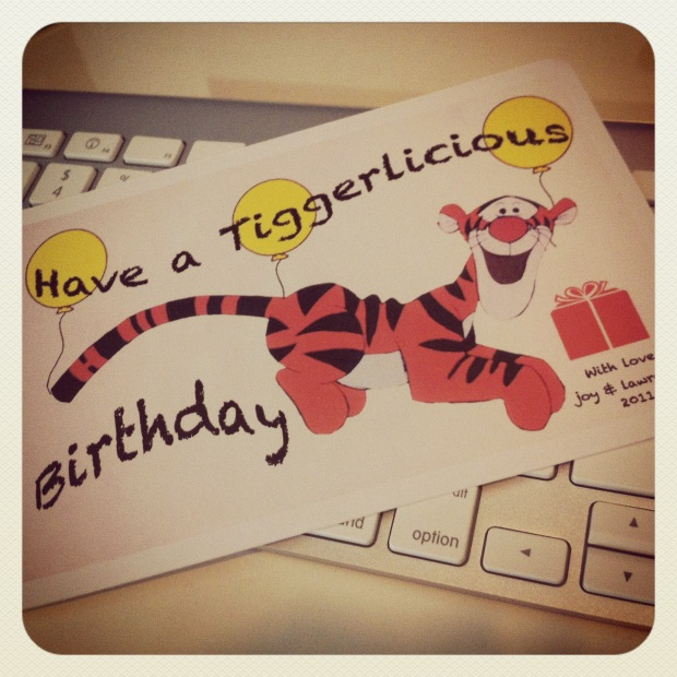 DIY Tigger birthday card