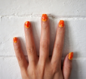 Today's Nails - OR201 TRS + Lara's Theme Deborah Lippmann