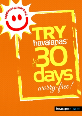 Havaianas launches 'Happiness Guaranteed' Initiative