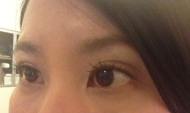 lashes - using Ooh-La-Lash Volumizing Mascara
