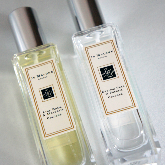Jo Malone Lime Basil & Mandarin and English Pear & Freesia