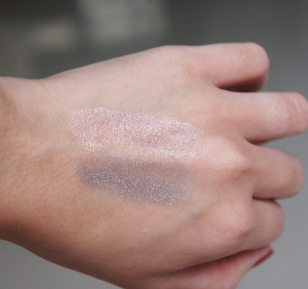 Swatches - Estee Lauder Double Wear Stay-in-Place Shadow Creme in Pink Pearl & Silver Leaf