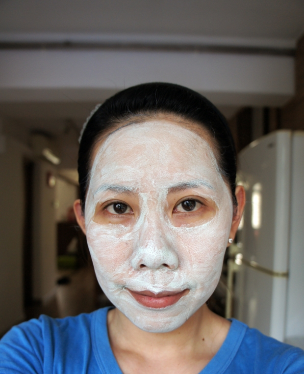 Facial Clay Mask applied
