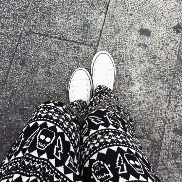 Shoe of the day - My ever faithful white Converse that has travelled the world with me