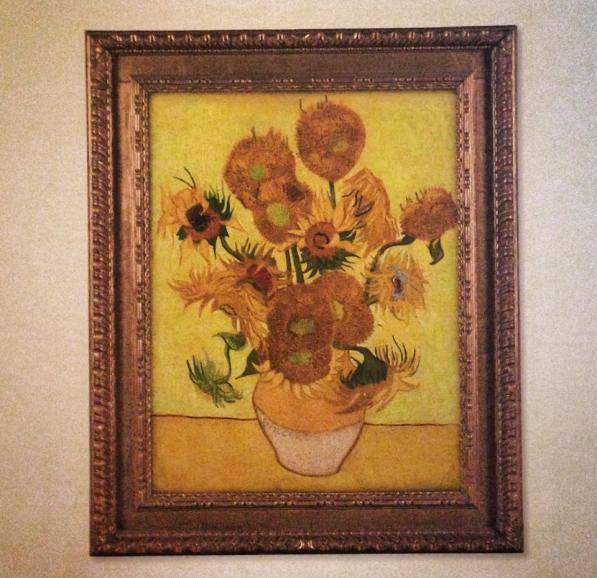 Van Gogh Museum - famous Sunflower painting