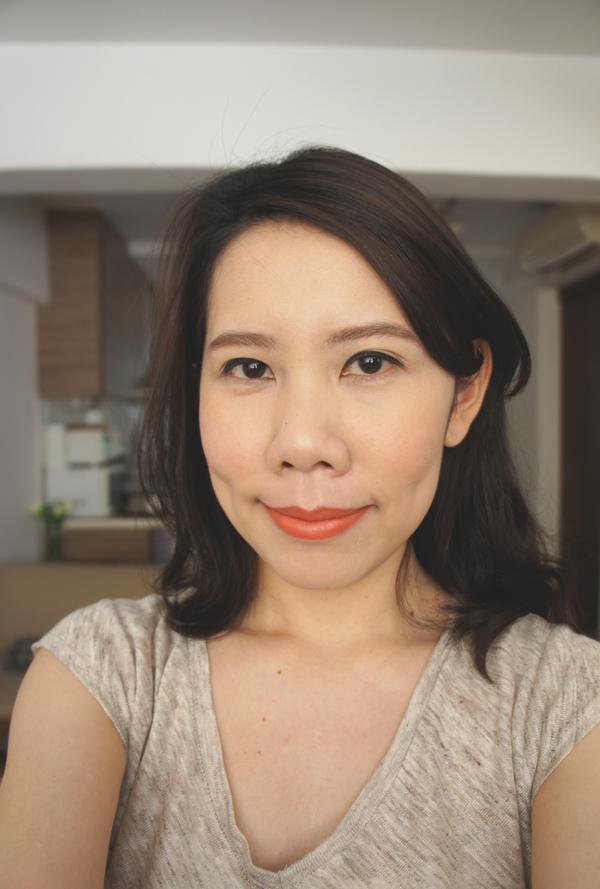Laneige Serum Intense Lipstick - Neon Orange (mixed with nude lipstick)