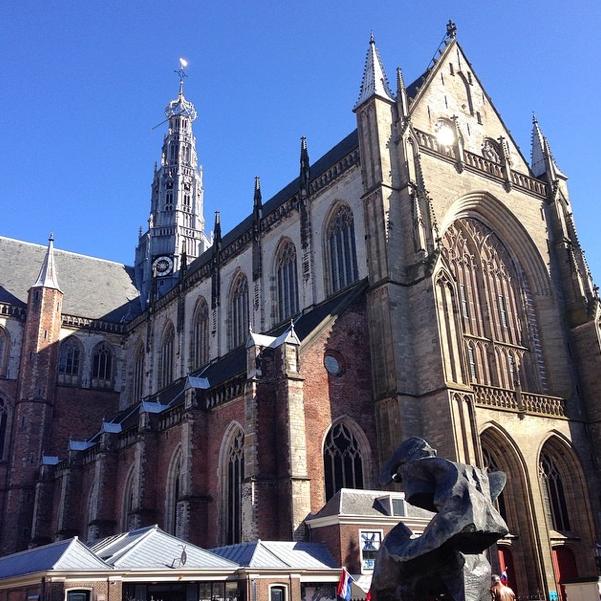 Saint Bavo Church - Grote Markt in Haarlem, Netherlands